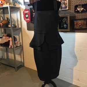 Peplum Scuba Cocktail Dress